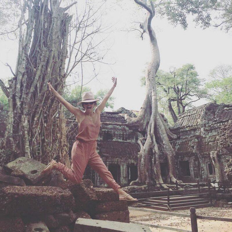 Eva y Pepe estuvieron este fin de semana en Cambodia.