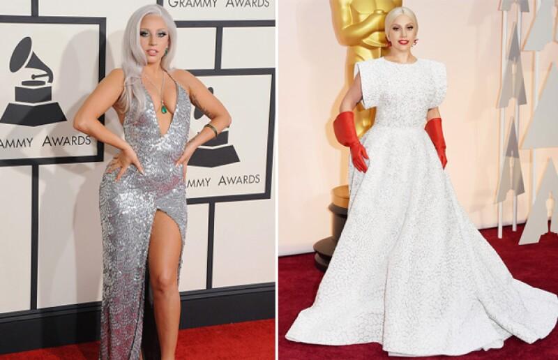 Estos han sido algunos de los estilos que más recordamos de Lady Gaga en las alfombras rojas.