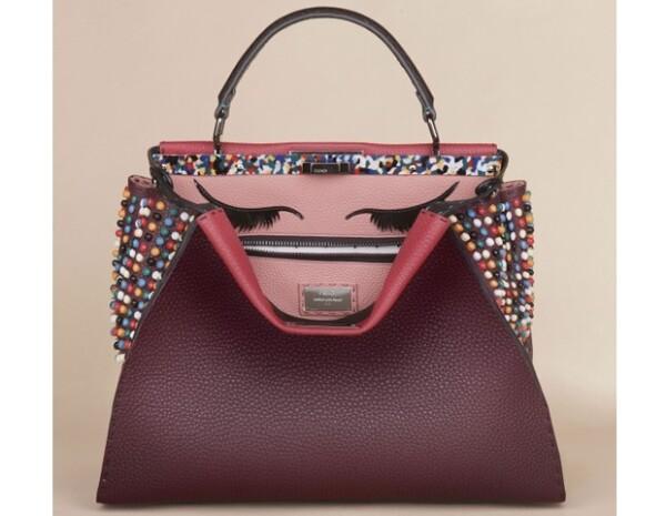 Esta es la bolsa que diseñó Adele como una de las 10 creaciones para la colección Peekaboo de Fendi