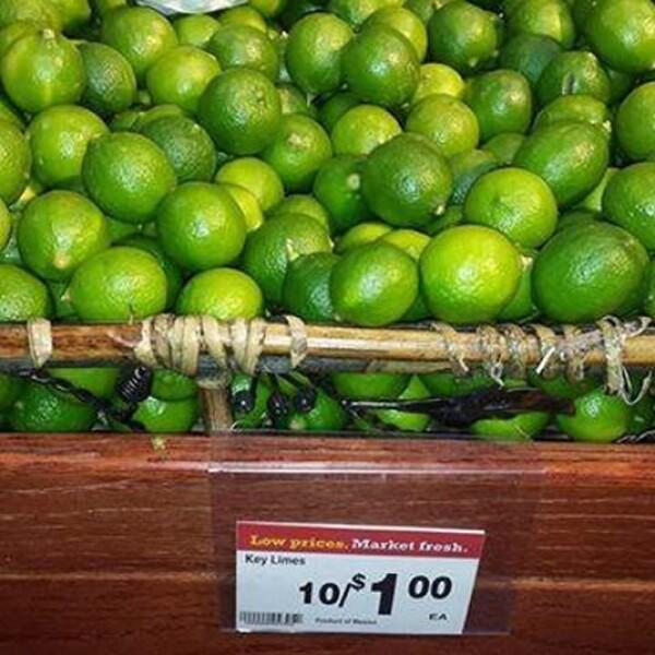 En Reno, Nevada, el supermercado Smith?s tiene los limones pequeños a 10 piezas por un dólar; más barato que lo que costaría en México