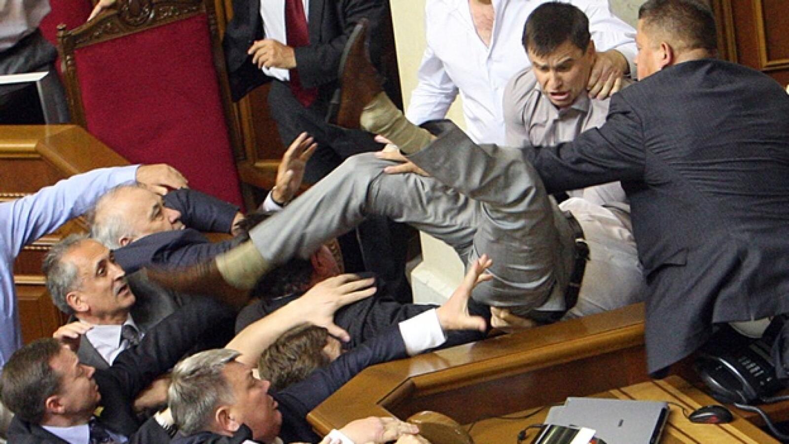 Ucrania Parlamento pelea 3