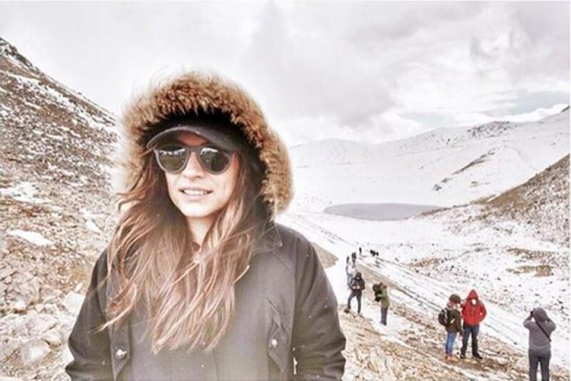 Ana Brenda visitó hace unos días el Nevado de Toluca.