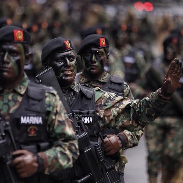 En esta edición, la Secretaría de Marina fue la dependencia a cargo del desfile militar