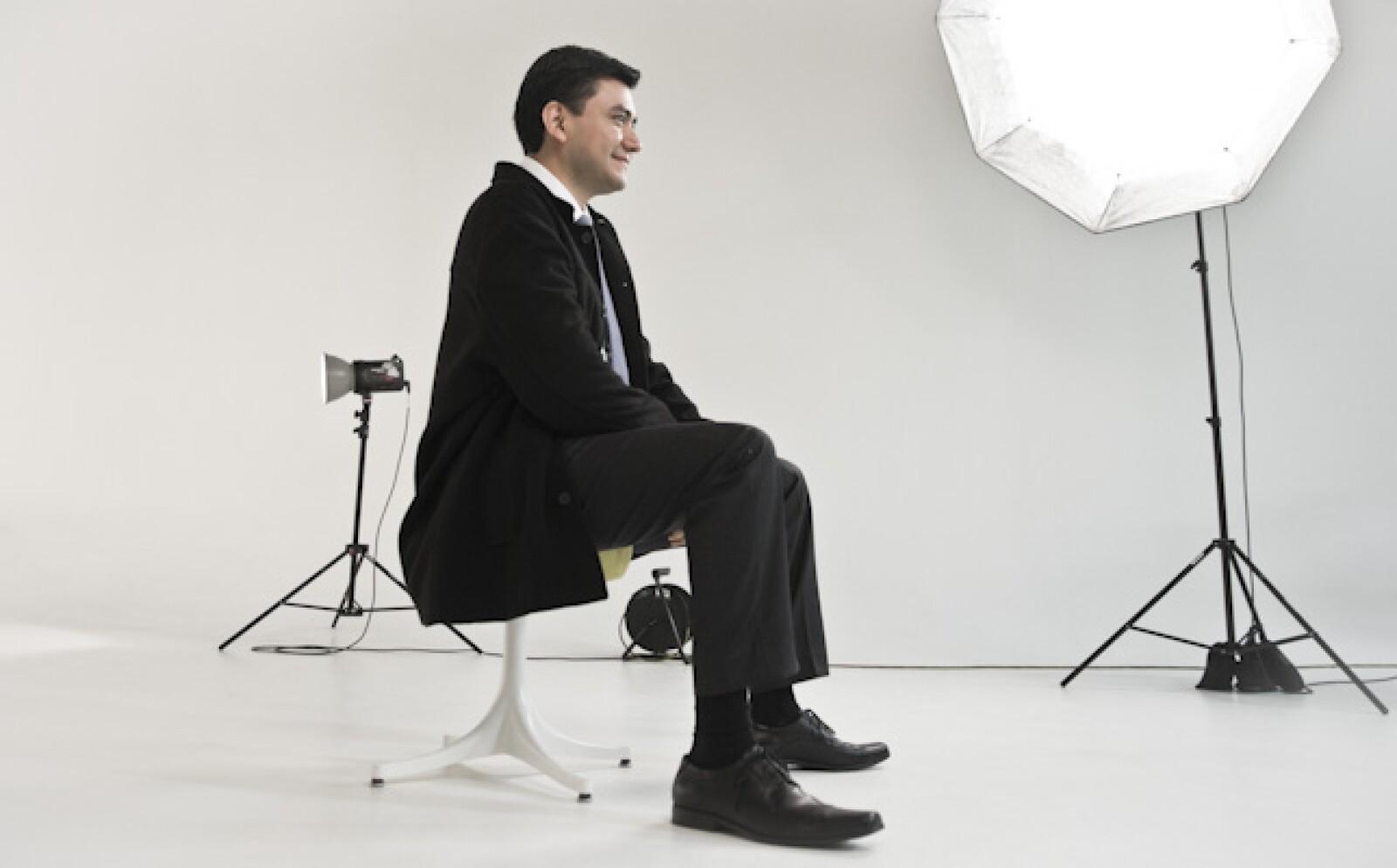 Alejandro Hernández, director de Sferea visitó las instalaciones de la revista Expansión al ser nombrado finalista de Emprendedores 2014.