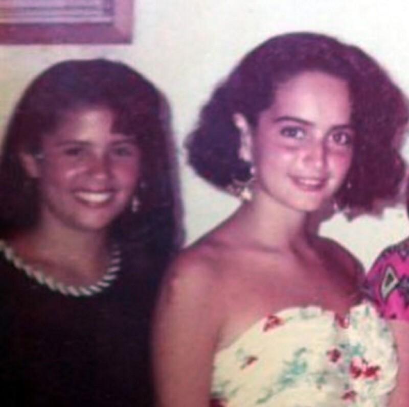 Así era como se veía Ana cuando era adolescente.