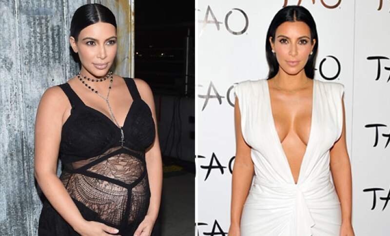En su embarazo, Kim subió más de 30 kilos.