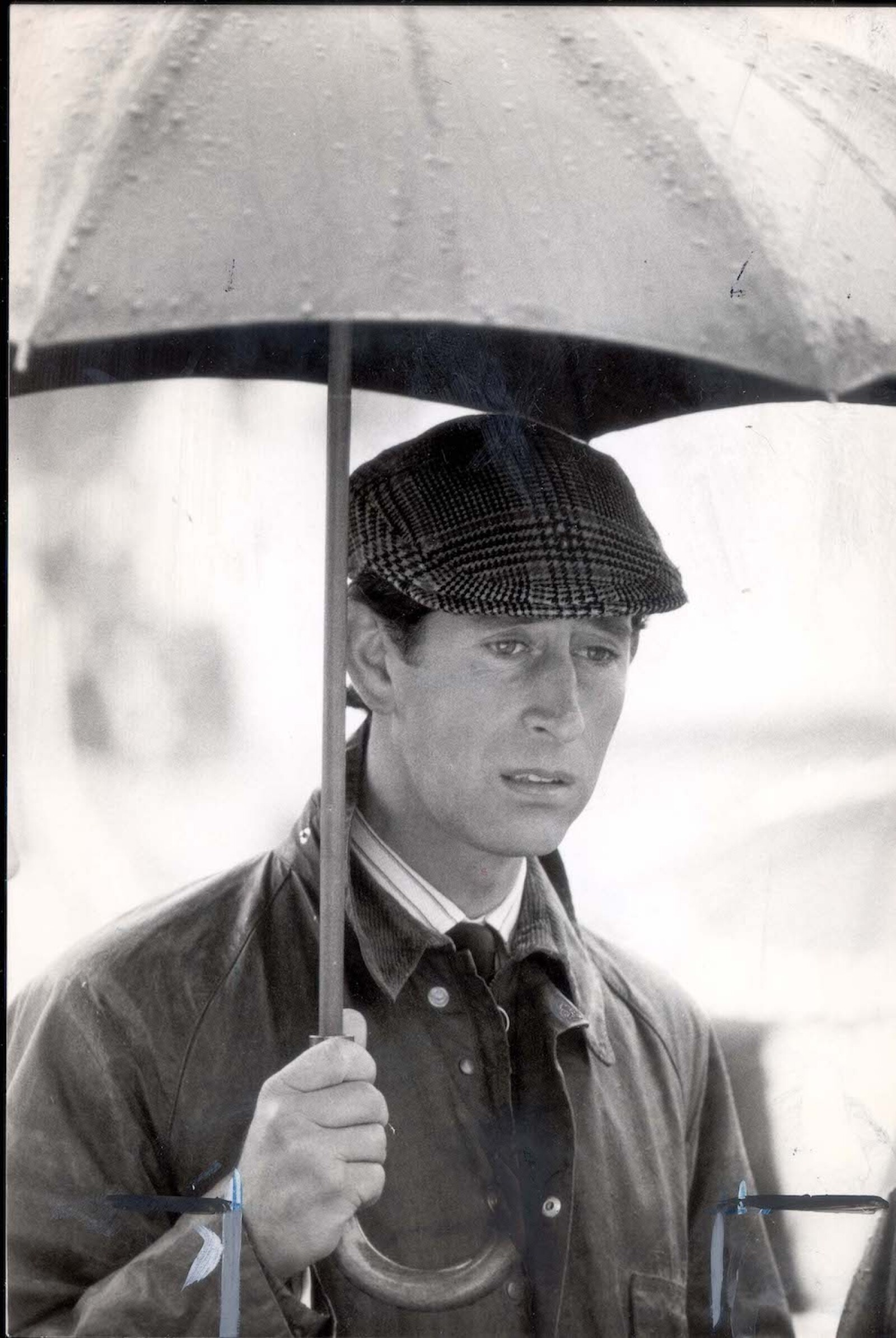 Prince Of Wales - 21st September 1983 Prince Charles In Rain At Dairy Farming National Park Culture Centre At Stunleigh Warks....royalty