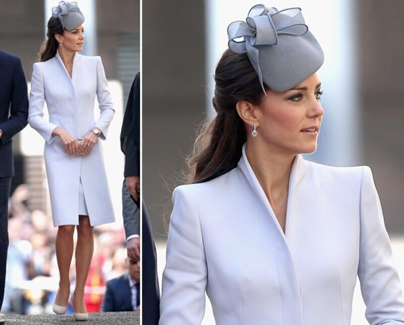 Como siempre el look de Kate deslumbró, esta vez en Alexander McQueen.