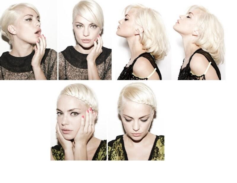 Dolores Fonzi se ha convertido en modelo para ser la imagen del salón de belleza de Sergio Lamensa, con quien ha trabajado en muchos shootings de moda.