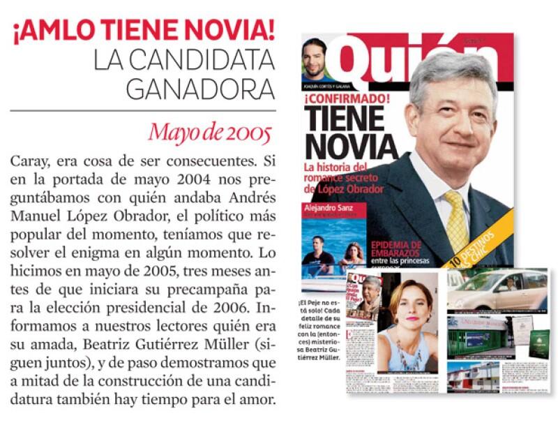 Andrés Manuel demostró que también se enamora.