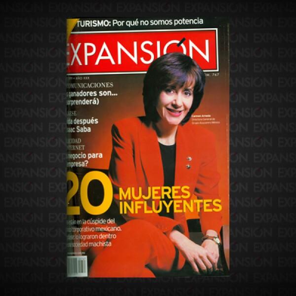 El antecedente 'Las 50' fue '20 mujeres influyentes'. No se trataba de un ranking -ni pretendía serlo-, sino de una muestra representativa de ejecutivas en ascenso. La directora general de Grupo Azucarero México, Carmen Arreola, formaba parte de la lista.