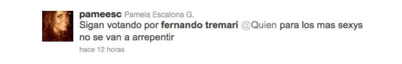 Amigas apoyan a Fernando Tremari.
