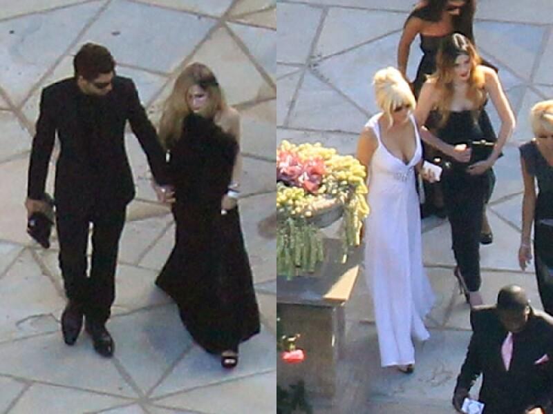Entre los invitados estuvieron Avril Lavigne y Lindsay Lohan.