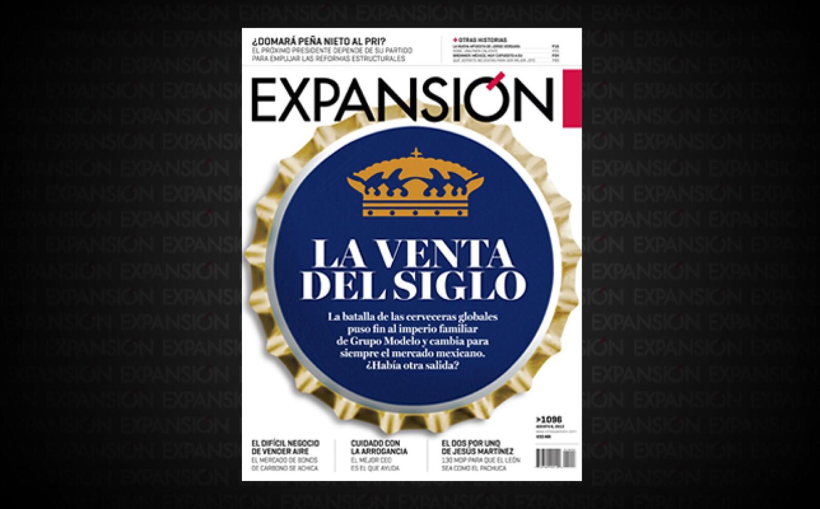 En junio se anunció la venta de Grupo Modelo a la belga Anheuser-Busch InBev. Expansión contó la historia de cómo la consolidación de la industria cervecera mundial obligó al CEO Carlos Fernández a vender a la firma mexicana.