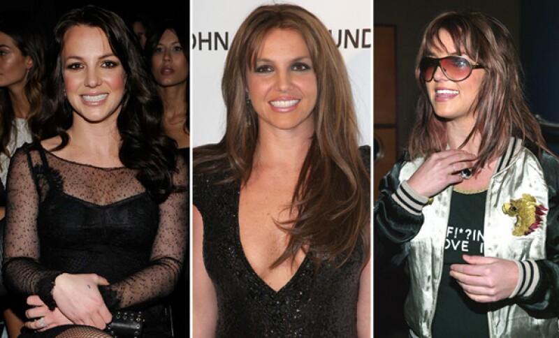 En distintas tonalidades de café, Britney ha hecho uso de este color desde muy joven.