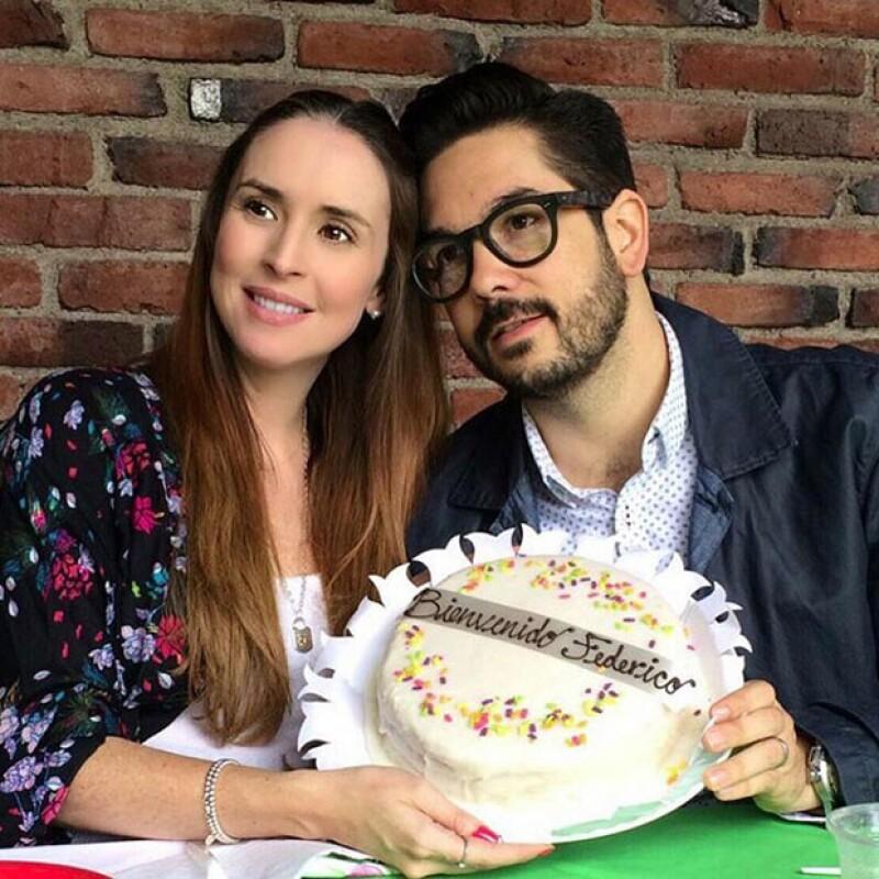 Andrea Torre y Pedro Ortiz de Pinedo han estado muy consentidos por sus amigos durante este embarazo.