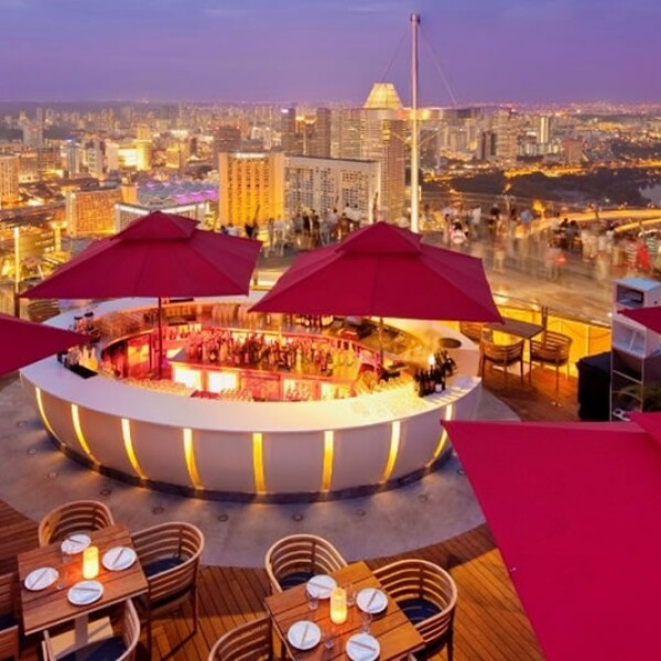 Sky Bar at KU DÉ TA, Sands Marina Bay (Singapur)
