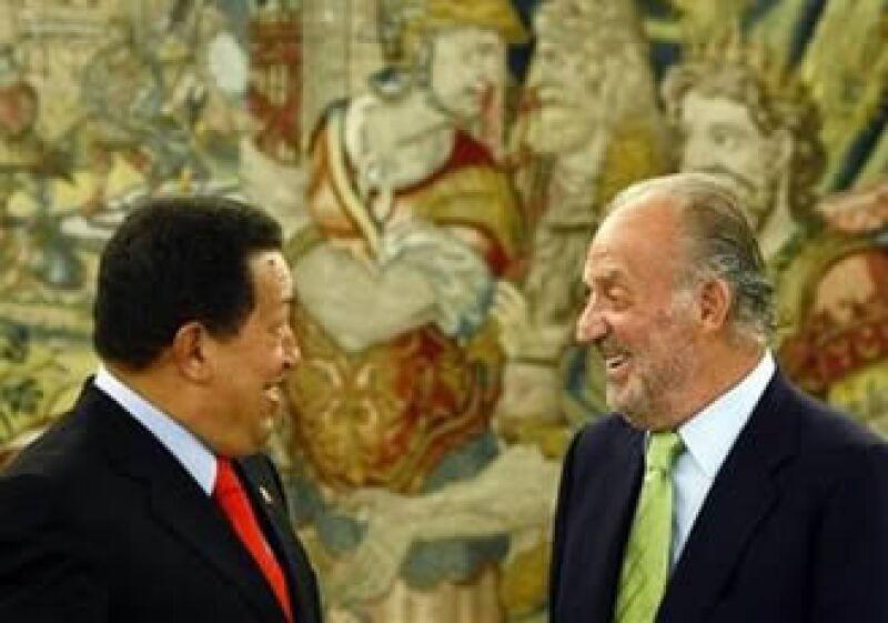 El encuentro entre Chávez y el rey de España es el segundo desde el célebre