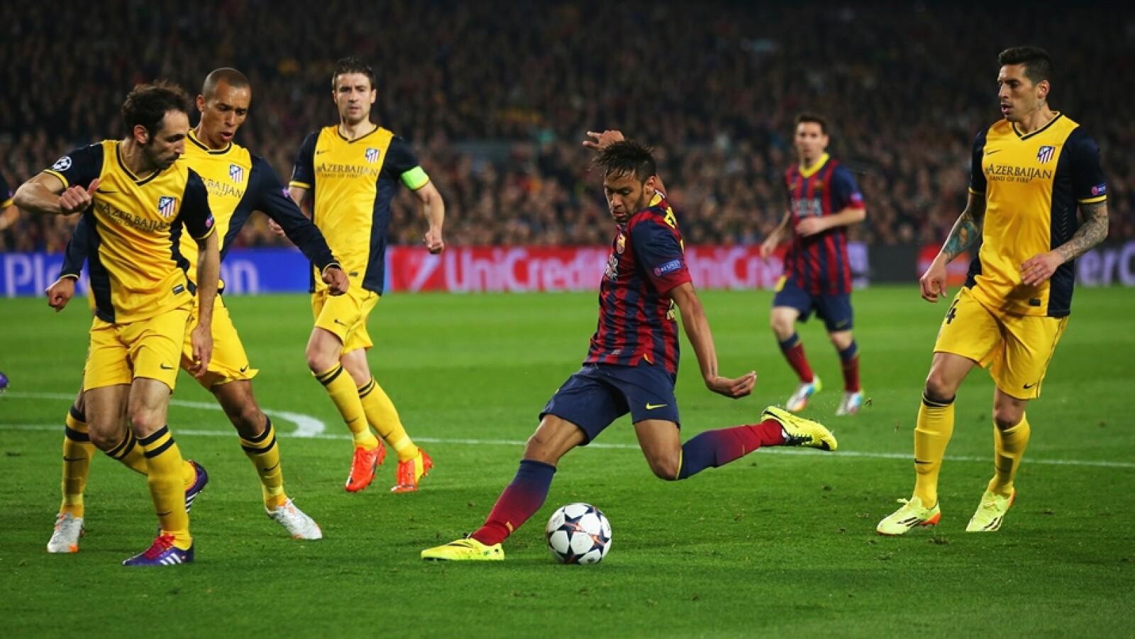 El brasileño Neymar anotó el gol del empate para Barcelona ante Atlético de Madrid