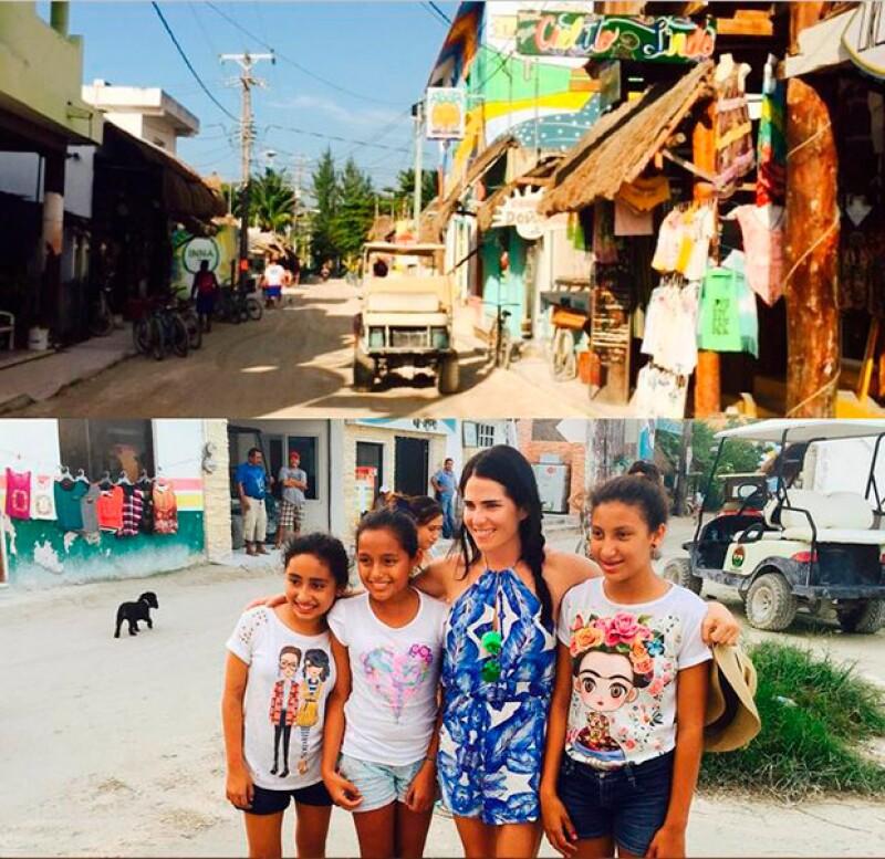 Karla quedó encantada con los habitantes de la isla.