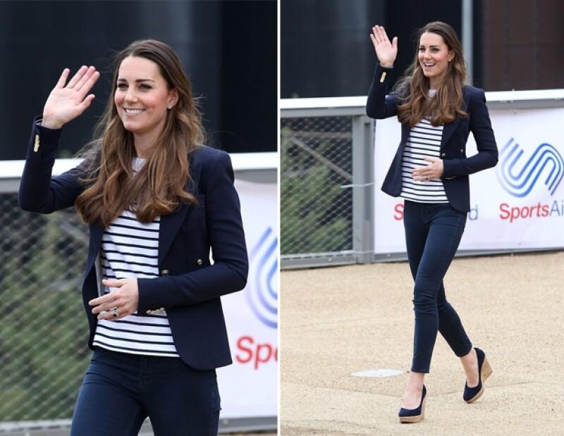 Kate acudió hoy por la mañana (hora de Londres) al Queen Elizabeth Olympic Park.