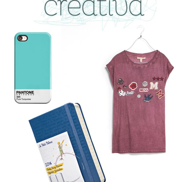 "1. Pantone iPhone case / etsy.com 2. Agenda Moleskine edición especial ""Le Petit Prince"" / moleskine.com 3. Varsity T-shirt  / zara.com"