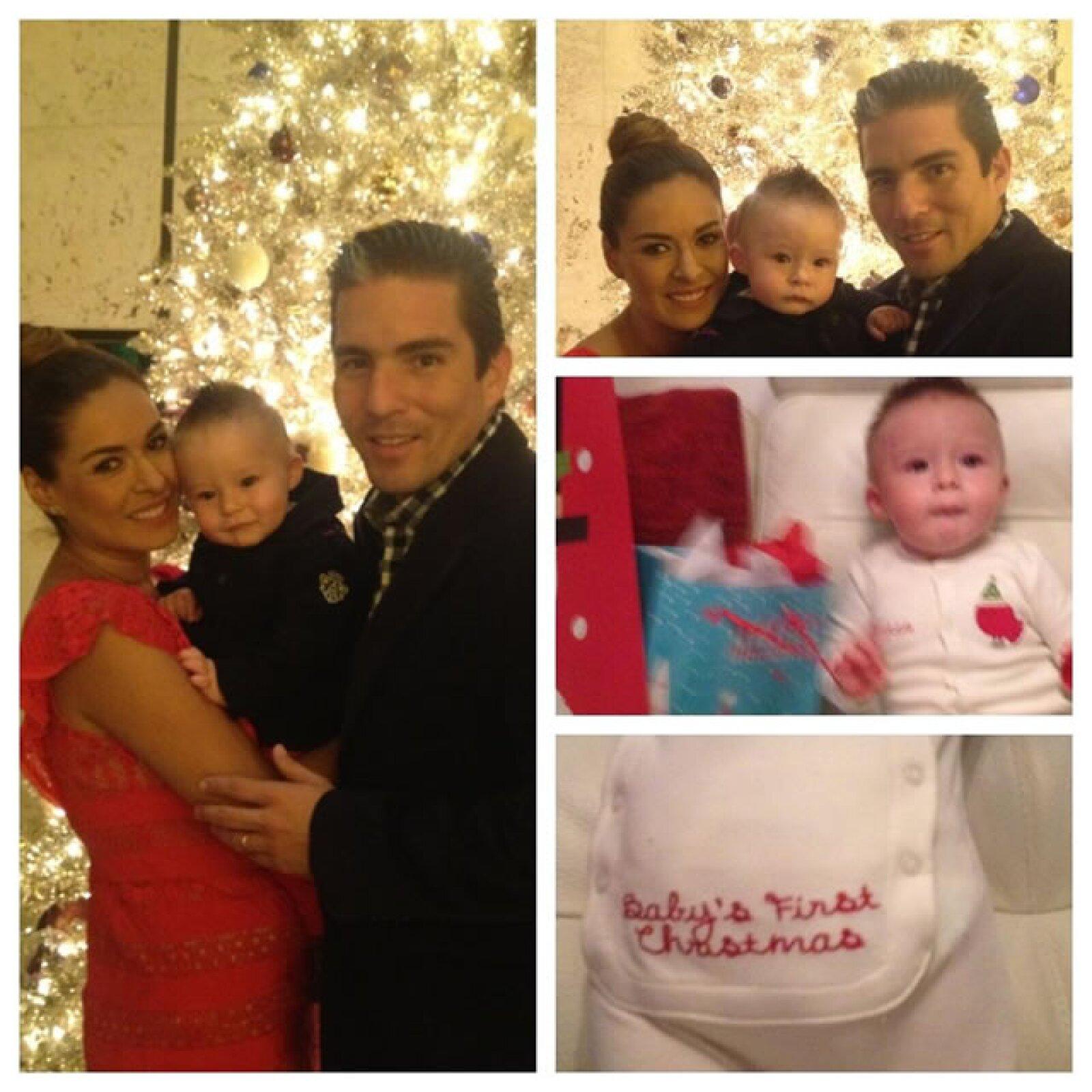 La primera Navidad de Montijo como mamá y Mateo con vida.