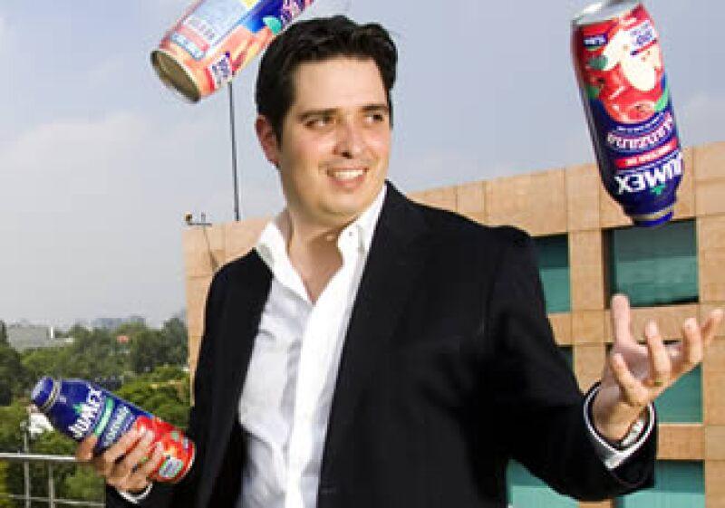 Rodrigo Mondragón Campero, gerente de Mercadotecnia Jugos y Néctares de Jumex. (Foto: Gilberto Contreras)