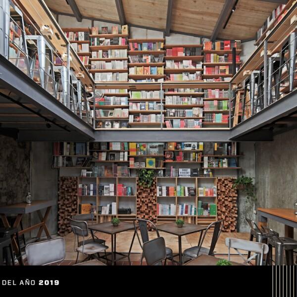 Café Cauz Foro Librería, premio Obras-Elle Decoration de Interiorismo Comercial y de Servicios Estándar