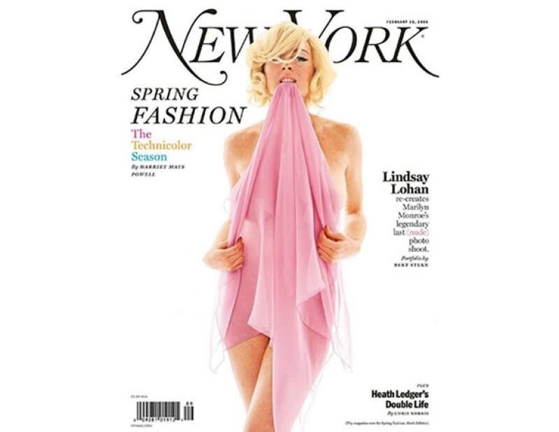 Una portada icónica y controversial en la carrera de Lindsay Lohan, mucho antes sus transformaciones faciales.