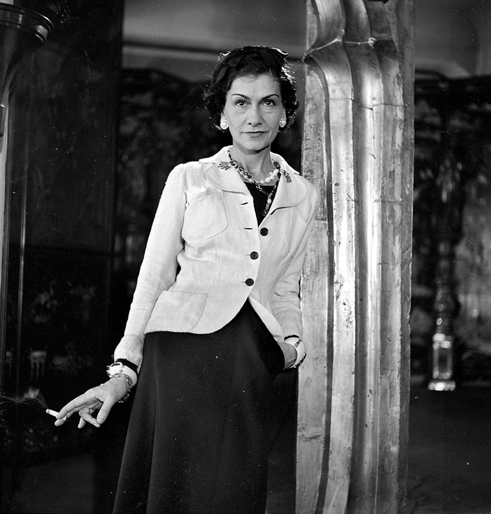 Coco Chanel, French couturier. Paris, 1937.