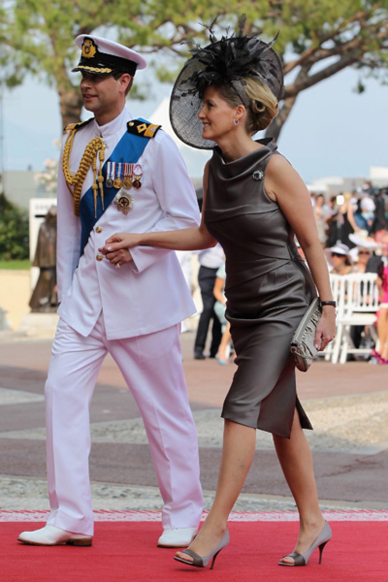 El príncipe Eduardo y su mujer, Sophia Rhys-Jones.