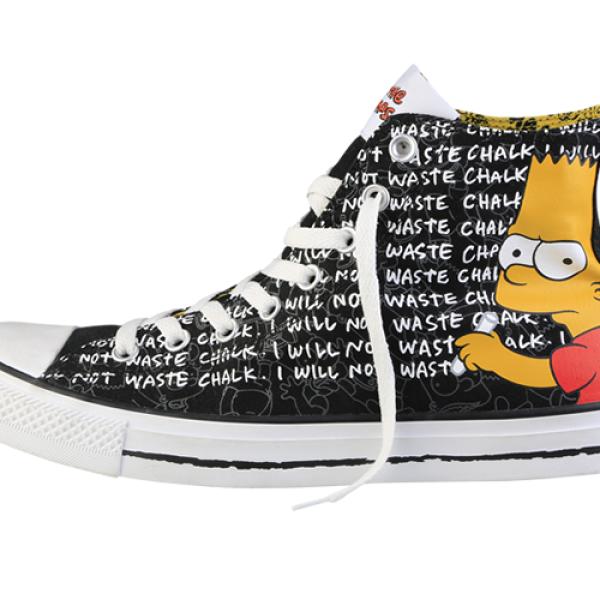 En este diseño, podemos ver a Bart haciendo una de sus actividades más recurrentes: cumplir su castigo en el pizarrón.