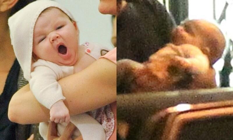 Harper Seven (izq) es la única hija de los Beckham. Aleph (der) es el primer bebé de Natalie Portman.