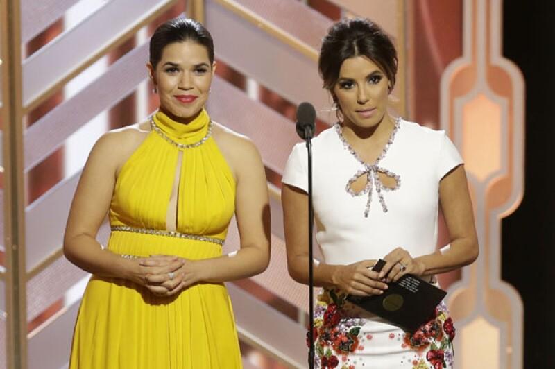 Las actrices aprovecharon el tiempo antes de entregar el premio a Mejor Actor Drama de Televisión para dejar en claro con gran sentido del humor que no todos los latinos son iguales.