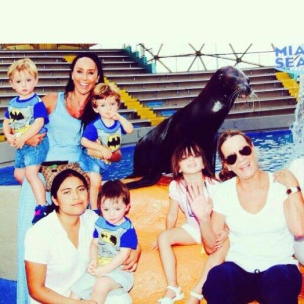 Inés Gómez Mont se llevó a sus hijos a Miami.