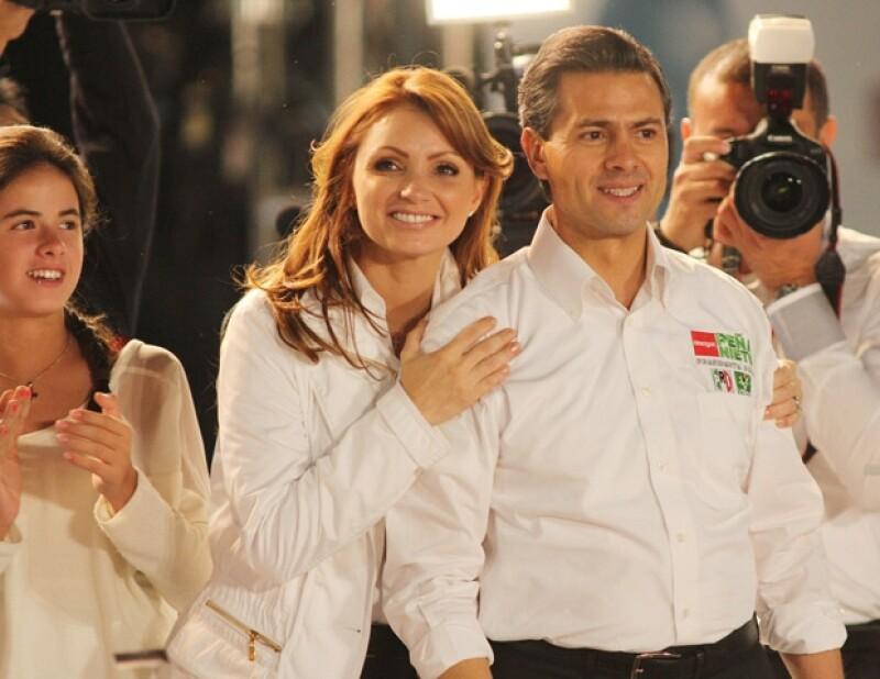 Angélica Rivera, la conocida Gaviota, estuvo anoche en el inicio de campaña de Enrique Peña Nieto, en Jalisco.