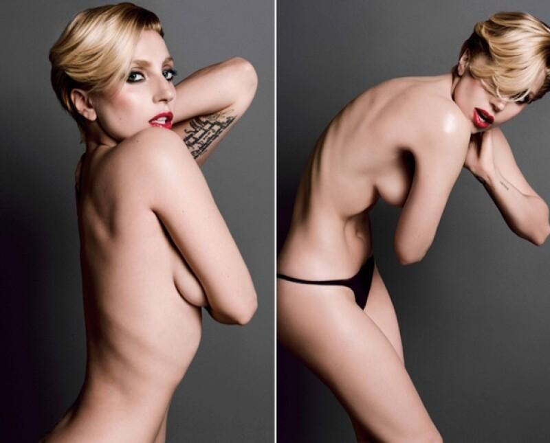 """Para un shooting de la revista """"V"""", la cantante que ha sorprendido con su radical cambio de imagen, presume una muy delgada y delineada figura."""
