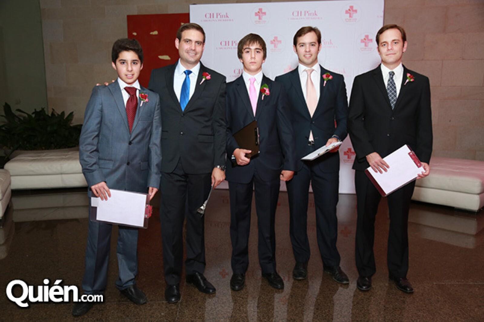 David Sada,Gabriel Rodríguez,Ernesto Milmo,José MIguel Sada y Ernesto Arrieta