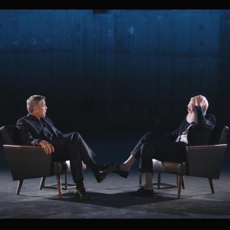 George Clooney y Letterman.