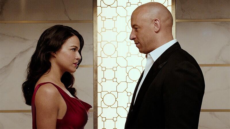 Michelle Rodriguez y Vin Diesel