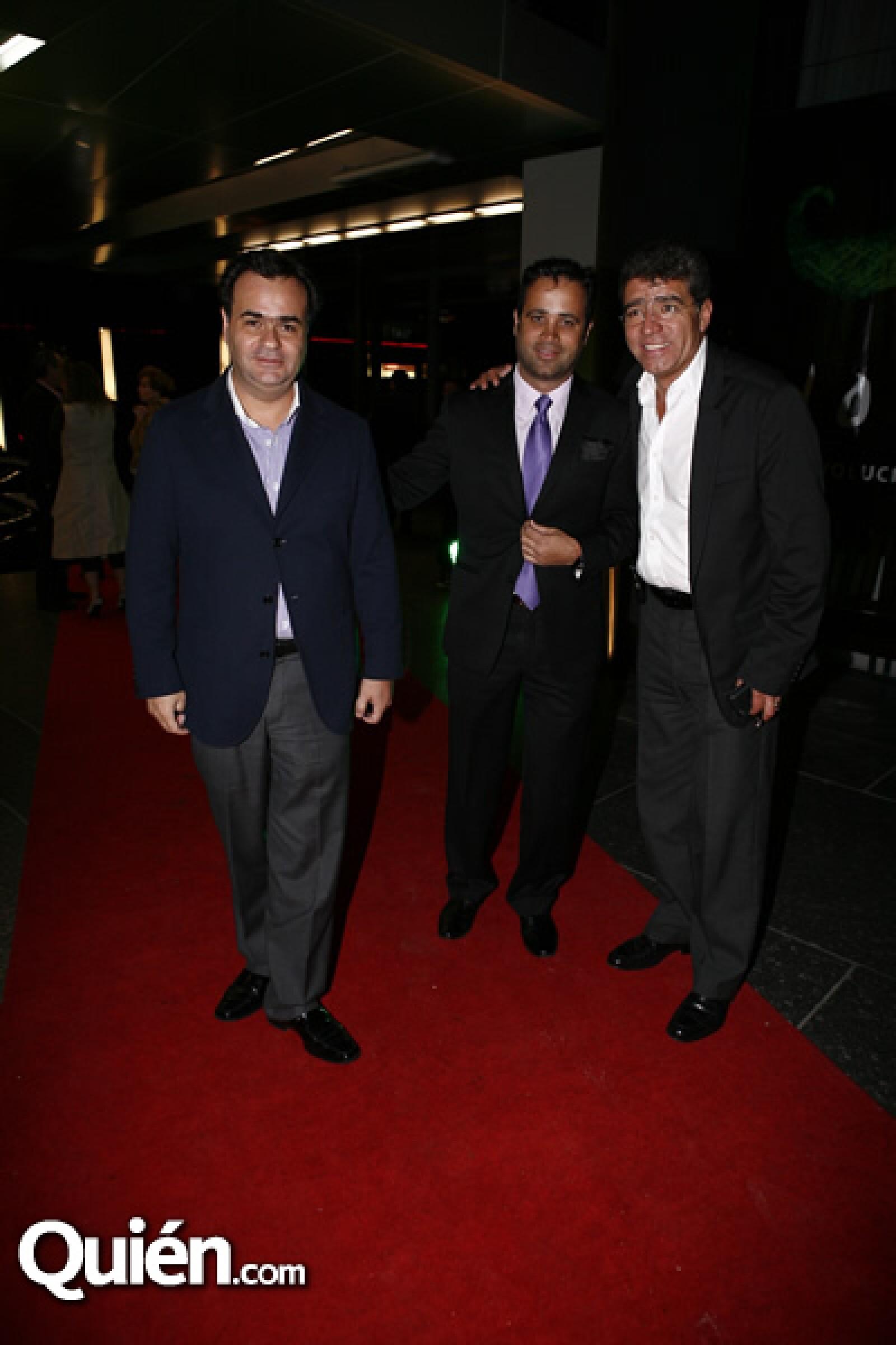 Alejandro Benítez, Roberto Slim y Alejandro Aguirre