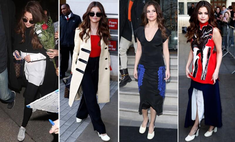 En tan solo un día, la cantante sorprendió utilizando cuatro outfits.