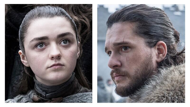 Arya y Jon Snow