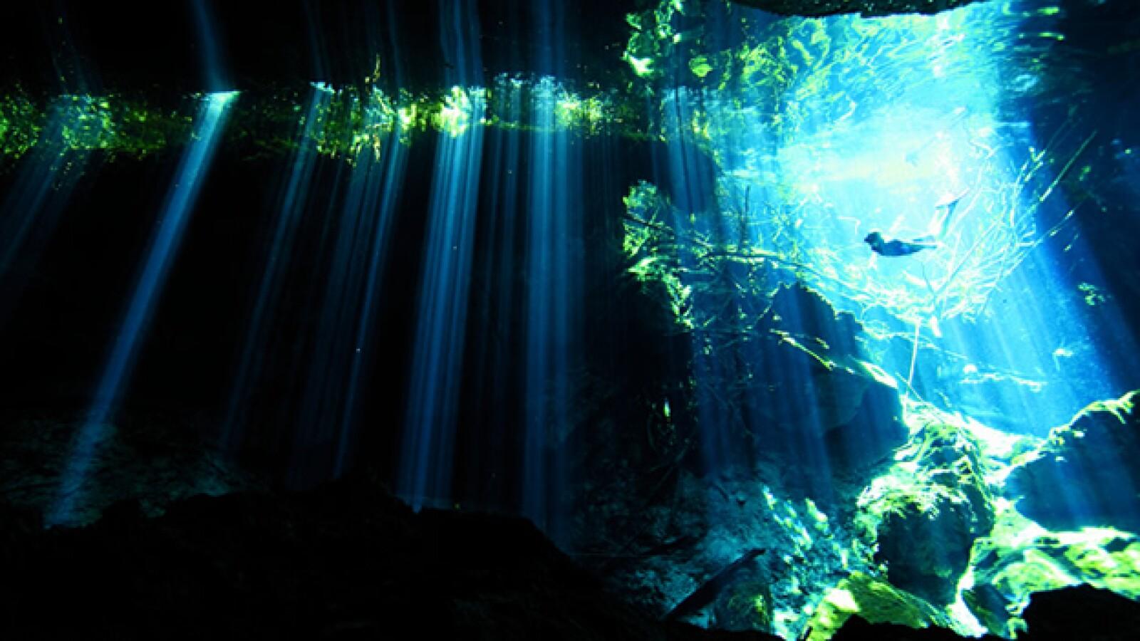Entre varios miles de cenotes ubicados en la Península de Yucatán, Dos Ojos, en Quintana Roo, es el de mayores dimensiones.
