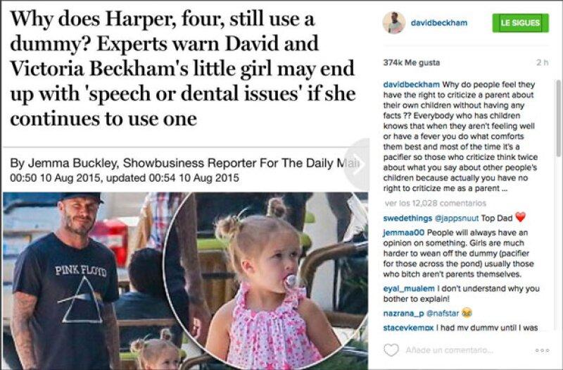 Daily Mail ha sido el medio que ha criticado a David y Victoria por su falta de habilidades como padres.