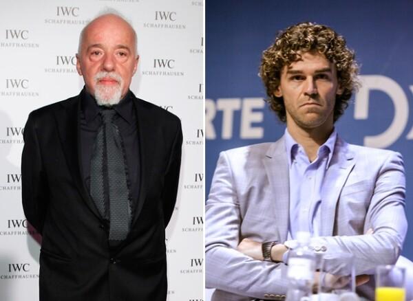 El escritor Paulo Coelho y el tenista Gustavo Kuerten.