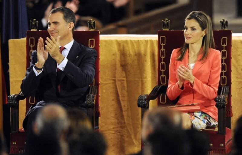 """""""Serviré a España con todas mis fuerzas"""", aseguró el heredero a la corona durante el evento que posiblemente sea uno de los últimos al que acuda como Príncipe y su padre como Rey."""