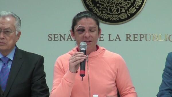 Ana Gabriela Guevara relata el ataque que sufrió