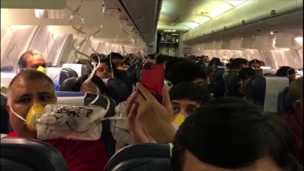 Unos 30 pasajeros sangran por falta de presurización en un avión en India